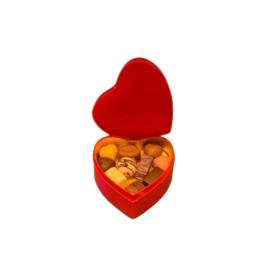 Βελούδινη κασετίνα καρδιά S – BV2102