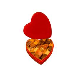 Βελούδινη κασετίνα καρδιά M – BV3