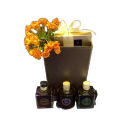 Σύνθεση δώρου σε οικολογικό καλάθι  SD7
