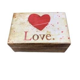 Ξύλινο διακοσμητικό κουτί Love – VL2108