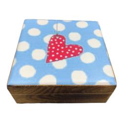 Ξύλινο διακοσμητικό κουτί σιελ πουά  – VL2115