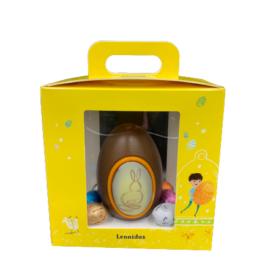 Σοκολατένιο αυγό γάλακτος σε κίτρινο τσαντάκι – EL2129
