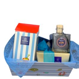 Σύνθεση δώρου σε καλοκαιρινό κουτί – SD2148